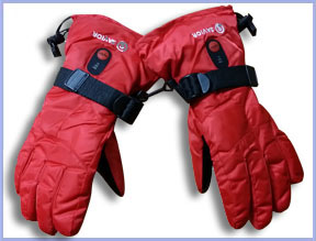 Heated Gloves Red