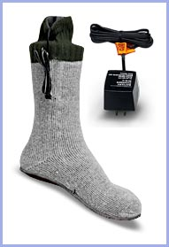 Thunderbolt Heated Electric Socks :  legwear gadget accessories direct heat source